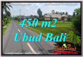 DIJUAL MURAH TANAH di UBUD Untuk INVESTASI TJUB647