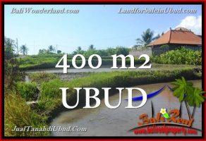 TANAH MURAH di UBUD BALI DIJUAL 400 m2 View Sawah link Villa