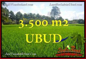 JUAL MURAH TANAH di UBUD  3,500 m2  View Sawah