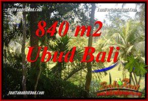 JUAL Murah Tanah di Ubud Bali 840 m2 View sungai dan sawah