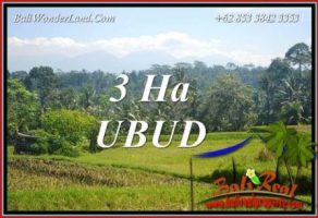 Tanah Murah di Ubud jual 300 Are View Sawah, Gunung dan Sungai