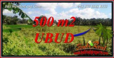 Dijual Murah Tanah di Ubud 500 m2 di Sentral Ubud